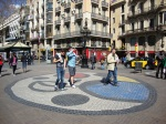 Miro's Circular Mosaic at the Ramblas in Barcelona