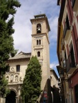 Old Minaret & Current Tower of Santa Ana - Granada