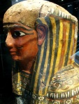 The painted funerary mask of an Ancient Egyptian man