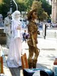 Human statues in Kiev