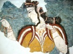 Cretan Princess Fresco in Heraklion