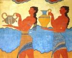 Minoan frescos at Knossos