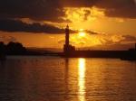 Sun sets on Hania's Venetian Harbor