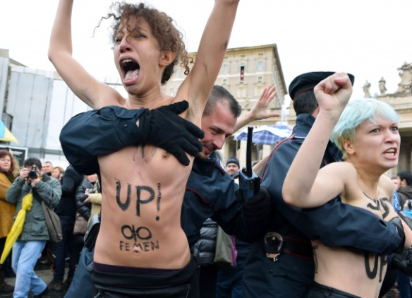 Femen against the Pope
