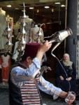 Street vendor of cold drinks