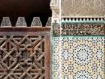 Zellij at Madrasa of Bou Inan