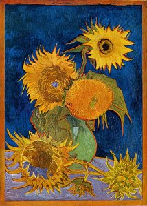 Van Gogh: Six Sunflowers, 1888, oil on canvas.