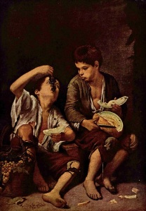 Kids eating grapes - Murillo