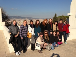 With students and friends