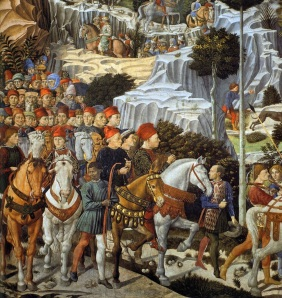 The Procession by Gozzoli