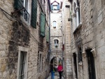 An alley in Split's Historic Center
