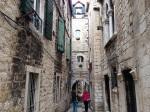 An alley in Split's Historic Center