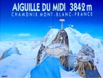 Signpost at Aiguille Du Midi