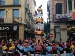 Castellers or Human Towers in Olot