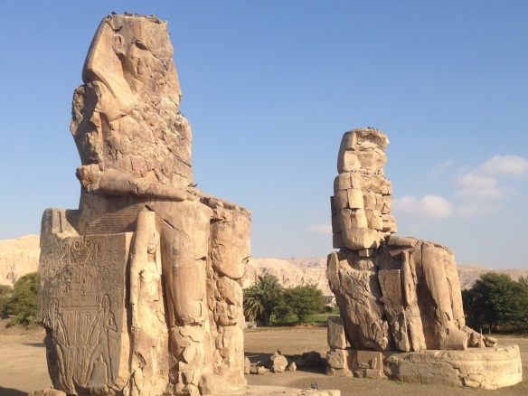 Heading to the Colossi of Memnon