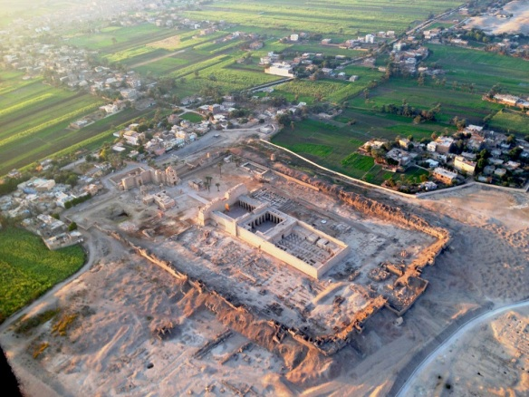 Medinet Habu seen from Hot-Air Balloon