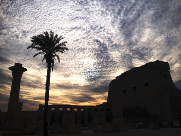 Sun sets over Karnak